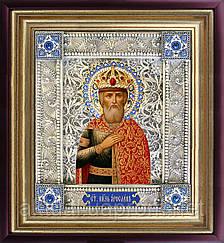 Святой князь Ярослав Мудрый скань икона