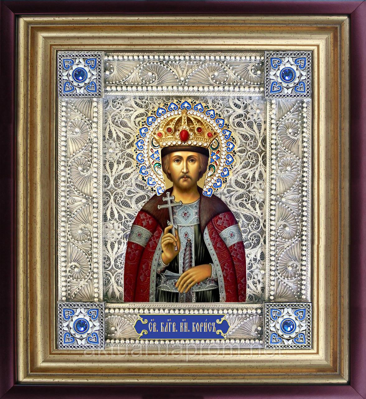 Святой Борис скань икона
