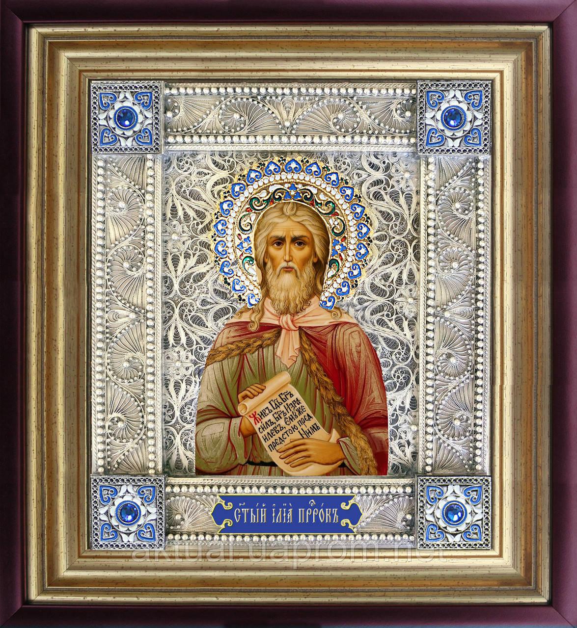 Святой Илья икона скань