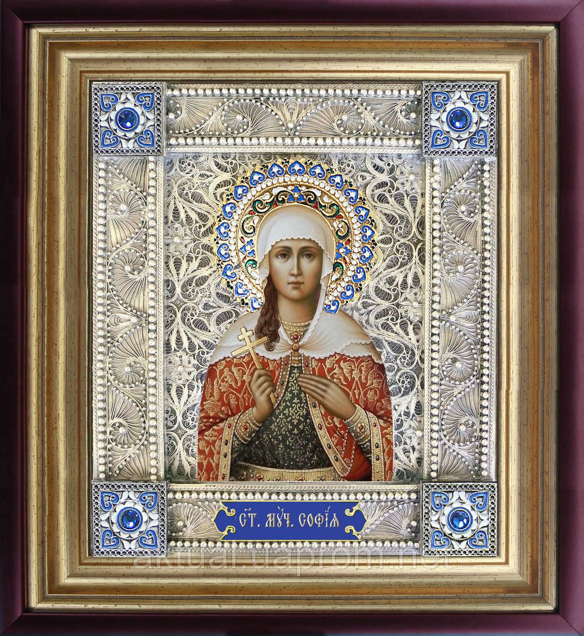 Святая София скань икона