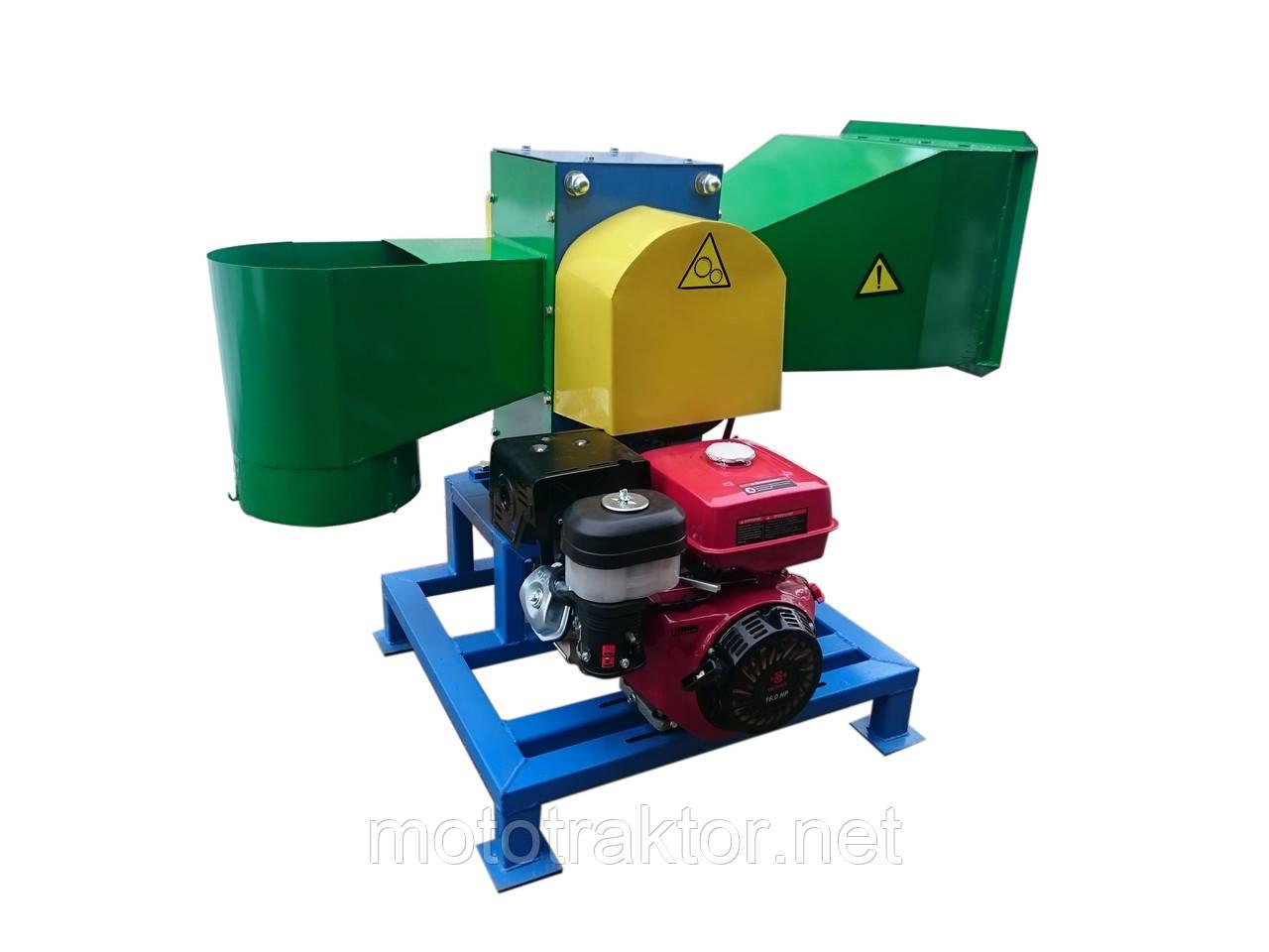 Рубильная машина измельчитель веток под бензиновый двигатель