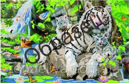 Схема для вишивки бісером «Тигриця і тигренята»