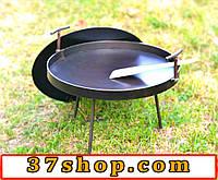 Сковорода с крышкой 400 мм в диаметре, для пикника