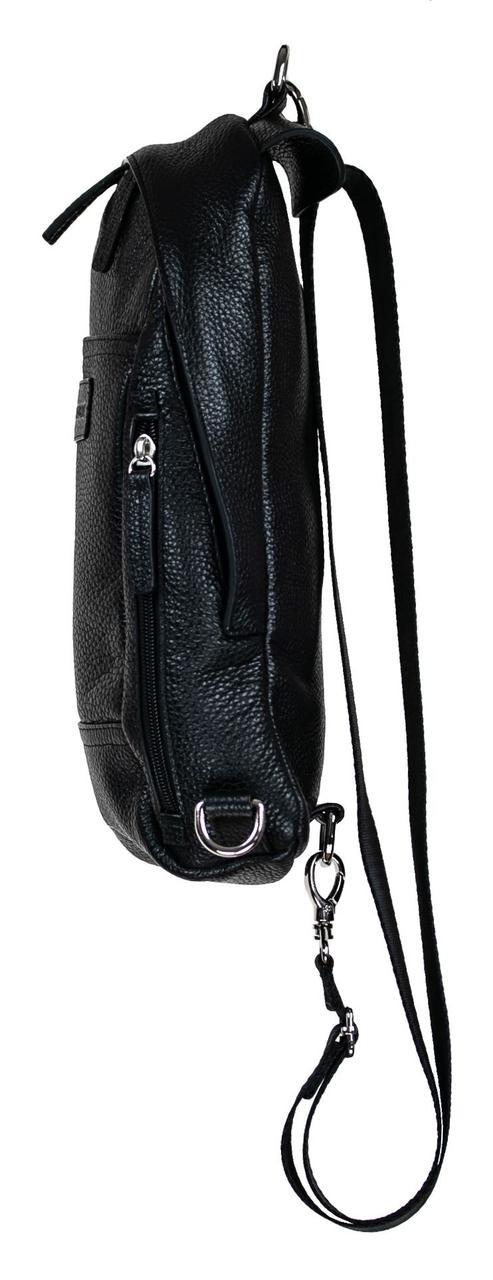 38543853034a ... Мужская сумка Valenta кожаная через плечо 30х17х6 см Черный (ВМ7077),  фото 3