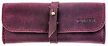 Кожаный футляр для очков Valenta Бордовый ( О-8 бордовый )