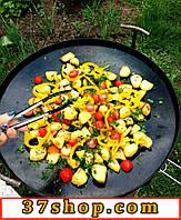 Сковорода с крышкой из диска бороны для пикника и дачи
