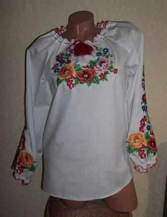 Купить вышиванку женскую  размер 56,58,60,62, фото 2