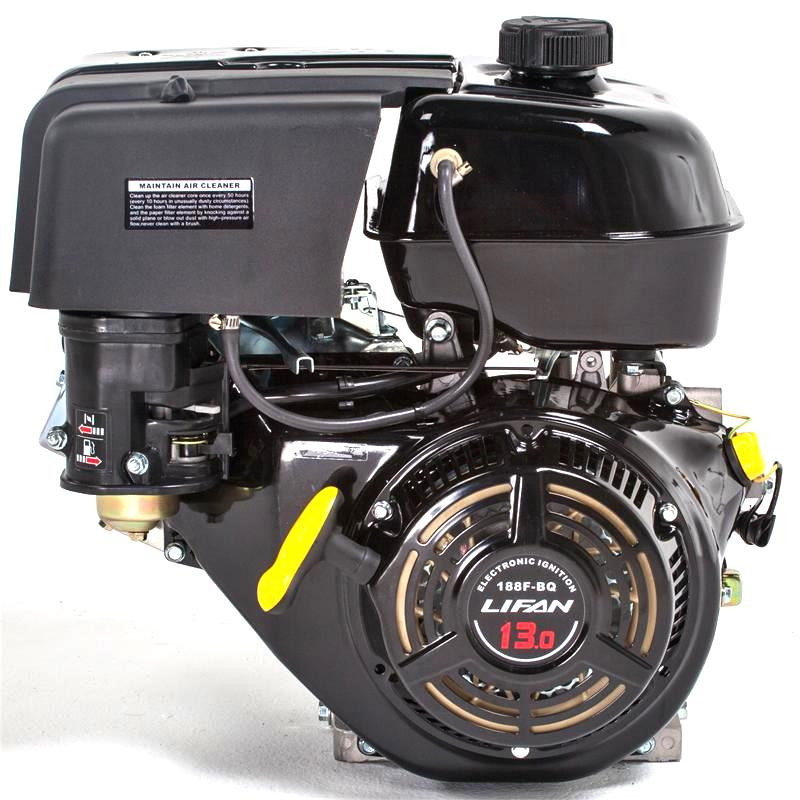 Бензиновый двигатель Lifan 188F-D (13 л.с., эл. стартер. вал 25 мм, шпонка)