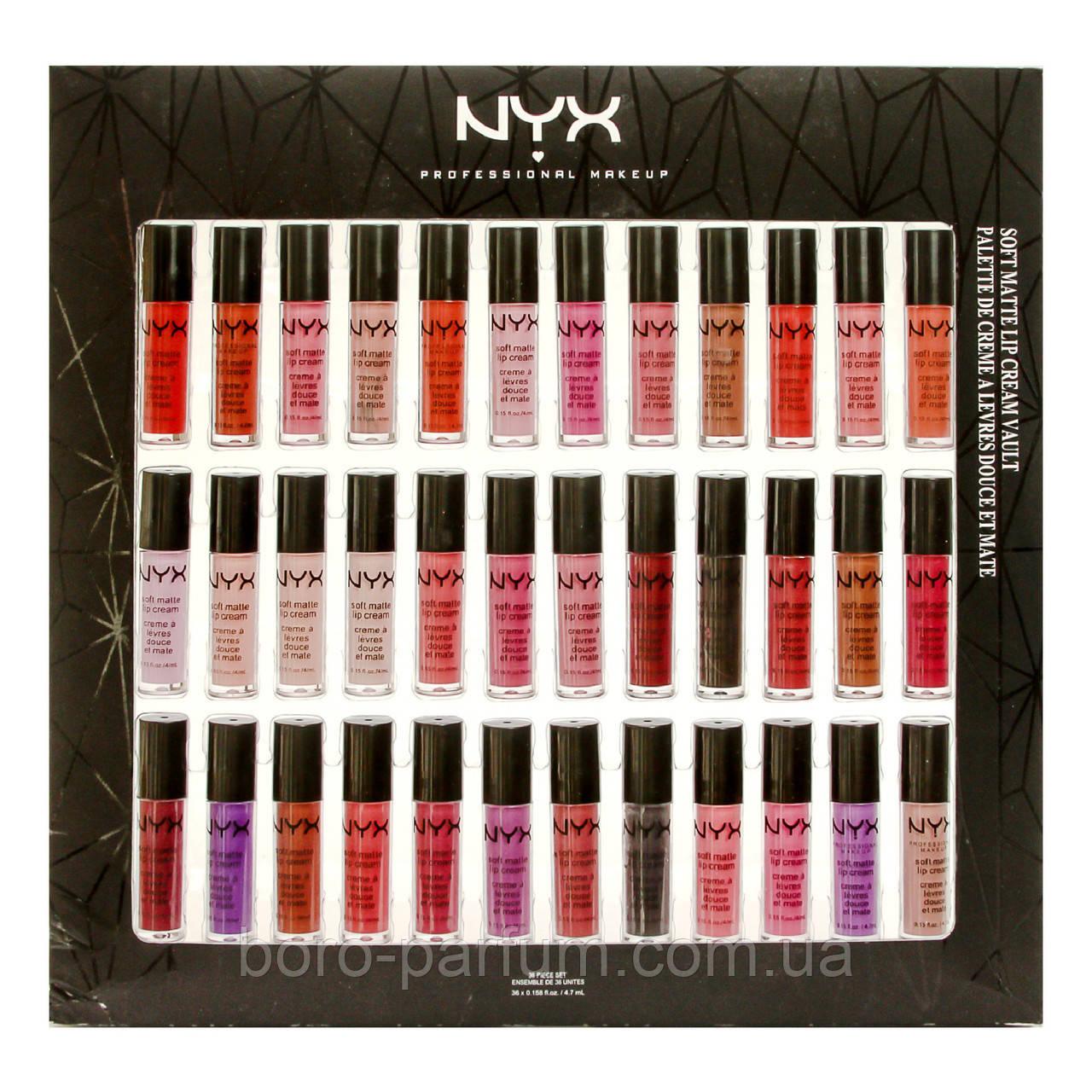 Набор стойких помад NYX Soft Matte Lip Cream Vault