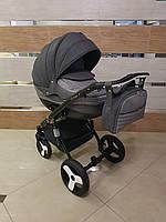 Детская коляска 2-в-1 Lumi (Люми лен) на пластиковой корзине L12