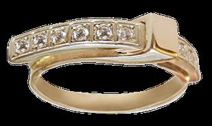 Золотое кольцо 585  с фианитами