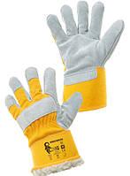 Перчатки утепленные  комбинированные спилок с х/б   Dingo Winter. Размер 11