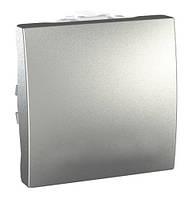 Заглушка двухмодульная, алюминий, Schneider electric Unica