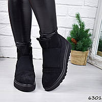 Ботинки женские Strong черные замша