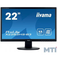 IIYAMA 21,5 VA РК монітор, VGA, HDMI I, DP, SP X2283HS-B3