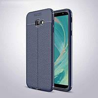Чехол для Samsung J415 / J4 Plus 2018 силикон Original Auto Focus Soft Touch темно-синий