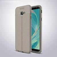 Чехол для Samsung J415 / J4 Plus 2018 силикон Original Auto Focus Soft Touch серый