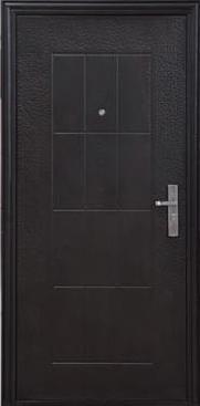 Дверь металлическая 40*960*2050 (017), эконом, молотковая, правая