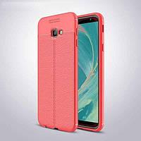 Чехол для Samsung J415 / J4 Plus 2018 силикон Original Auto Focus Soft Touch красный