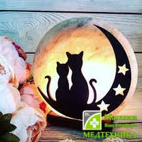 Соляная лампа «Коты на Луне»