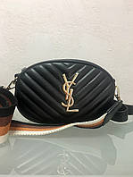 Сумка в стиле Yves Saint Laurent чёрная на пояс, фото 1