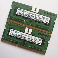 Оперативная память для ноутбука Samsung SODIMM DDR3 4Gb (2+2) 1333MHz 10600S CL9 (M471B5773CHS-CH9) Б/У