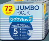 Babylove Premium Active Plus памперсы подгузники 5 junior 12-25 kg  2 упаковки по 36 шт. - Германия