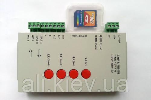 Контроллер адресных лент T1000S поддержка DMX 512 WS2811 WS2801 WS2812B LED controller SD-карта