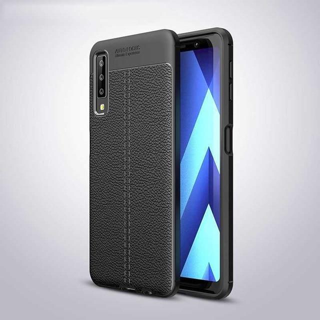Чехол для Samsung A750 / A7 2018 силикон Original Auto Focus Soft Touch черный