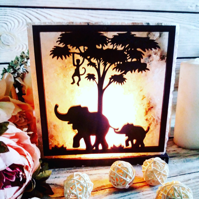 Соляная лампа «Африка»