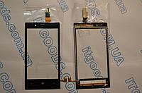 Оригинальный тачскрин / сенсор (сенсорное стекло) для Nokia Lumia 720 (черный цвет, чип Synaptics) + СКОТЧ