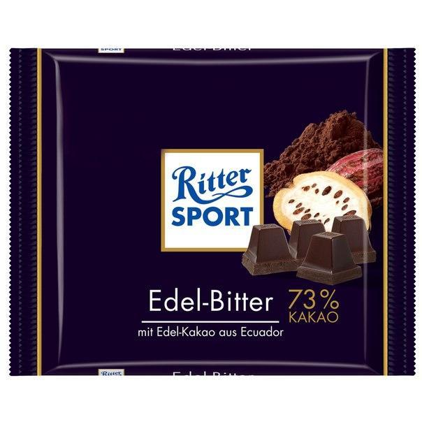 Шоколад Ritter Sport черный горький шоколад 73% какао