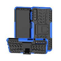 Чехол для Samsung A750 / A7 2018 противоударный бампер синий