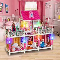 Кукольный домик Frozen 4 комнаты+2 балкона, 100 см 66906, фото 1
