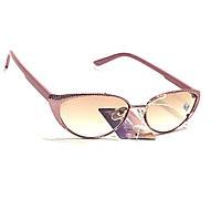 Женские очки в металлической оправе с тонированной линзой