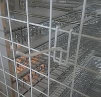 Торговий гачок (крючок) на сітку розміром  100 мм металопластик, фото 1
