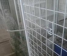 Торговый крючок  на сетку размером 200мм металлопластик -10шт