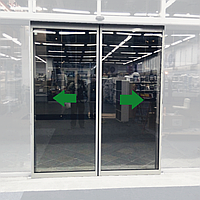 Комплект двох алюмінієвих стулок parkan до автоматичних дверей