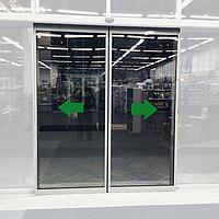 Комплект двух алюминиевых створок parkan для автоматических дверей / PKNLFALU2