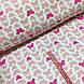 Ткань польская хлопковая, бабочки розовые на белом, фото 2