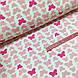 Ткань польская хлопковая, бабочки розовые на белом, фото 3