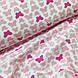 Ткань польская хлопковая, бабочки розовые на белом, фото 4