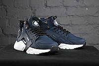 Зимние кроссовки Nike Huarache Winter Acronym (Сине-белые)