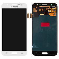 Дисплей для Samsung Galaxy J5 (2015) J500, модуль (экран и сенсор), белый, оригинал #GH97-17667A