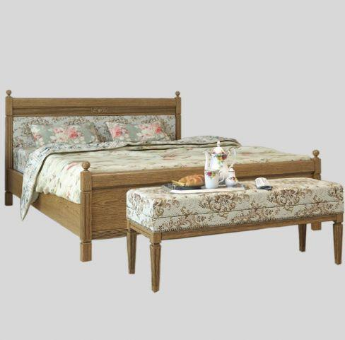 Кровать Текстиль 160 Марсель Мебус