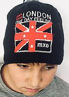 Шапка на флисе с английским флагом, мальчик, черная 53573-729300 MaxiMo, Германия