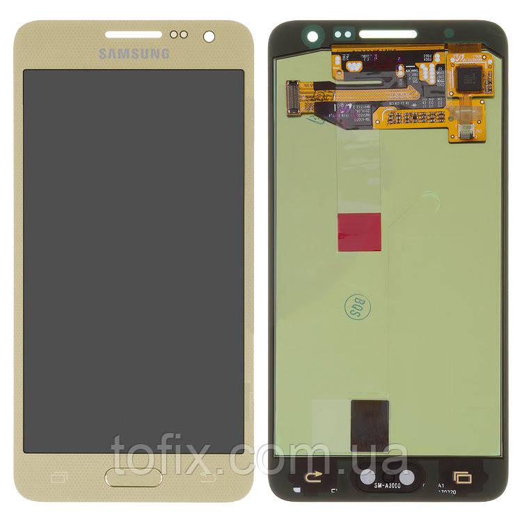 Дисплей для Samsung Galaxy A3 (2015) A300, модуль в сборе (экран и сенсор), золотистый, оригинал