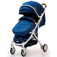 Детская прогулочная коляска книжка  Smart model D289 Blue Jeans