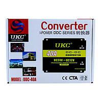 Автомобильный преобразователь UKC 24В в 12В на 40A Авто Инвертор  конвертор напряжения автоивертор