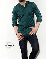 9ea1fbf660a Зеленая мужская рубашка с длинным рукавом из Турции